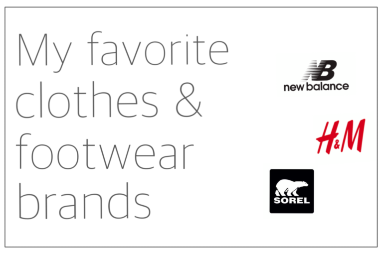 Read more about the article My favorite clothes and footwear brands
