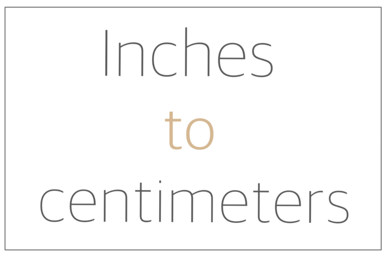 Read more about the article Inches to centimeters