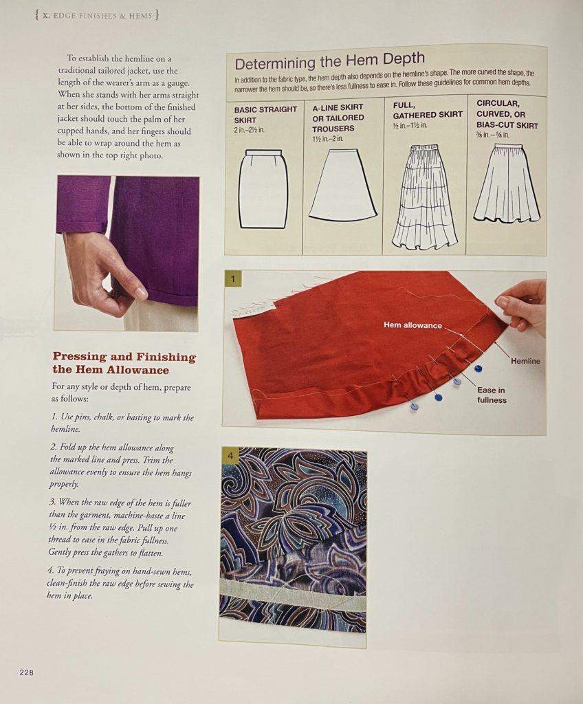 Hem depth-threads Sewing Guide