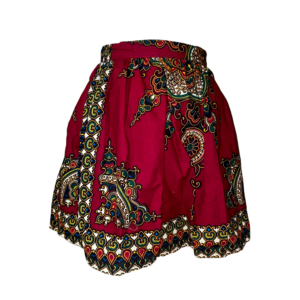 Waist reduction-African print skirt