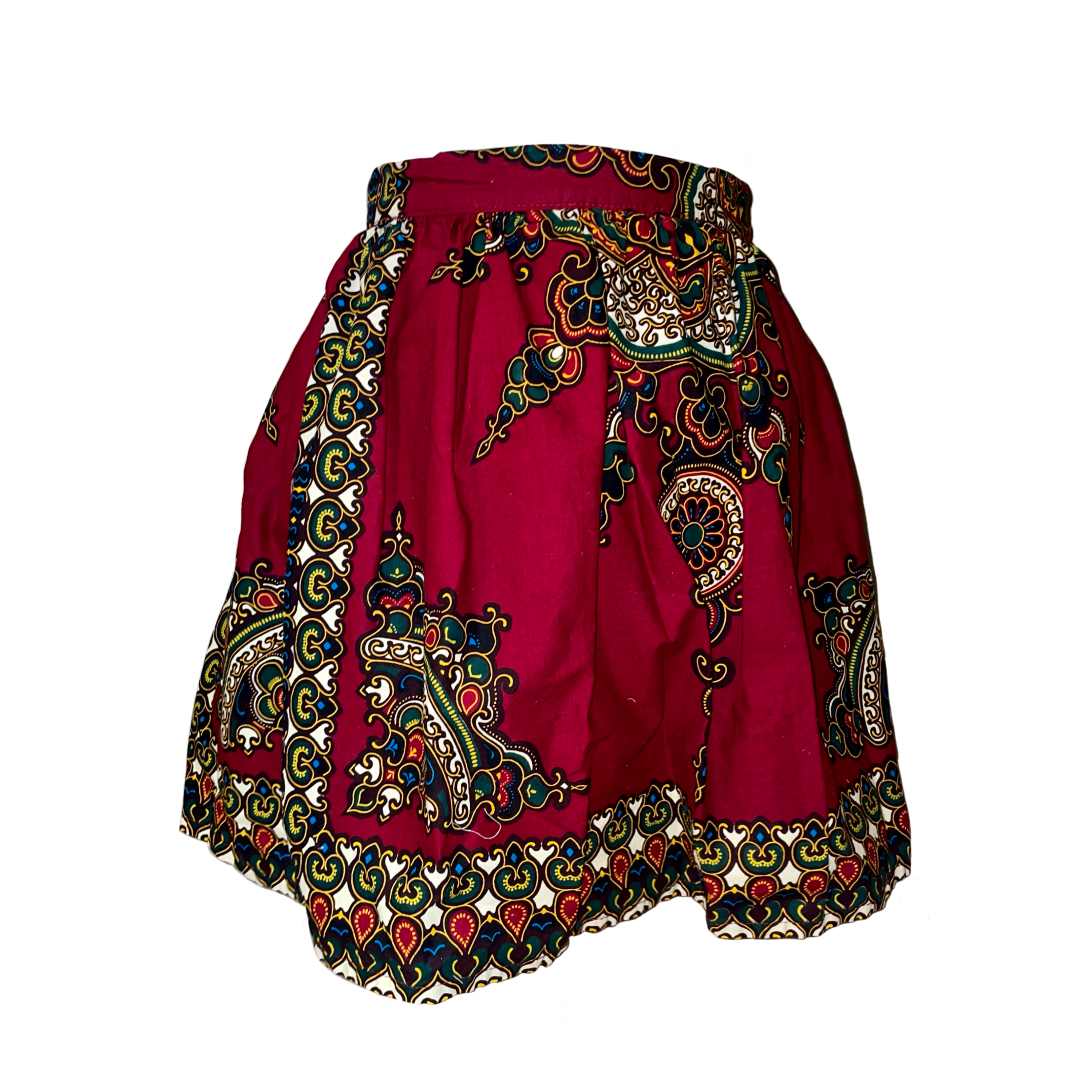 You are currently viewing Waist reduction on African print skirt